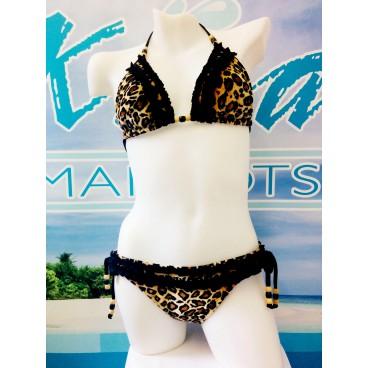 Bikini / Swimsuits B-28 (velour leopard)