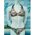 Bikini / Swimsuits B-55 (velour fleurie vert)